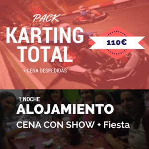despedida de soltero pack karting total