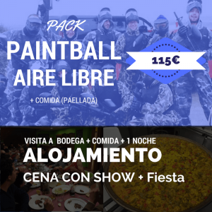 despedida de soltero pack paintball aire libre