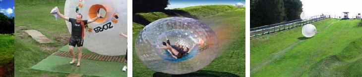 Ideas despedidas solteros/as diferentes Zorbing